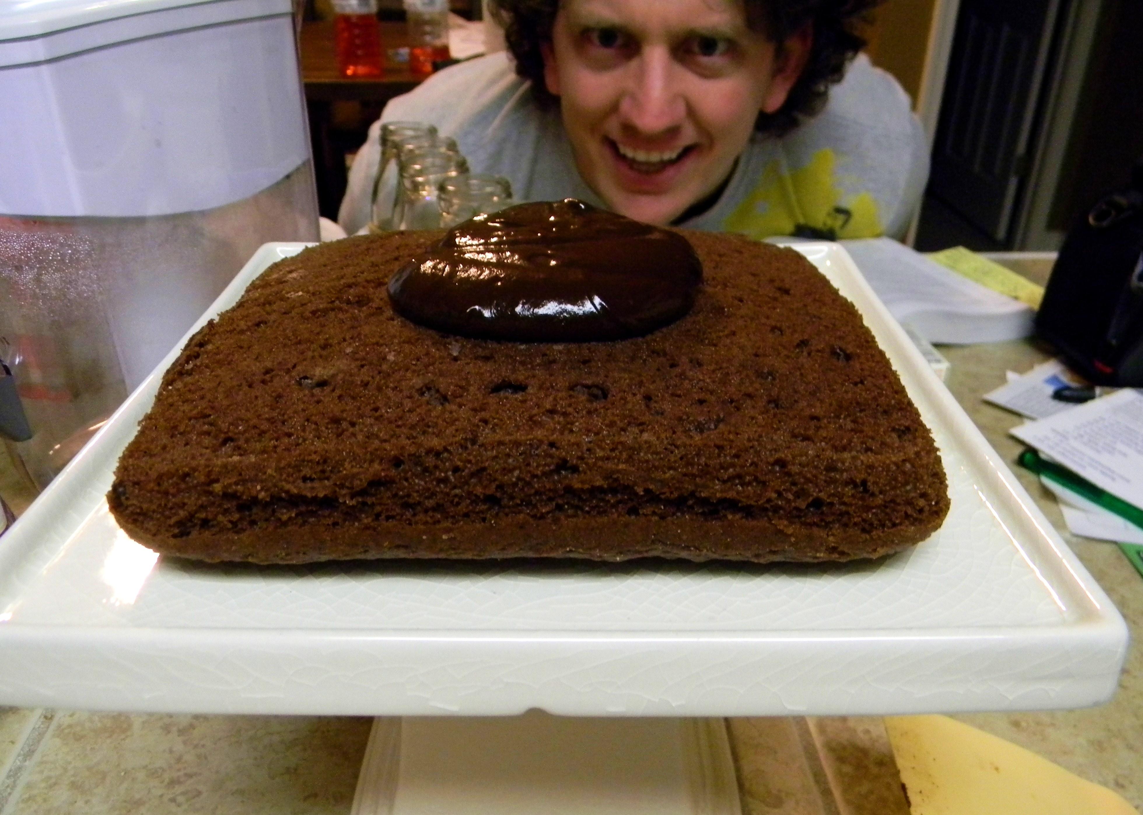 ... Chocolate Ganache Cake (aka: A Manly Birthday Cake)  Pretty / Hungry