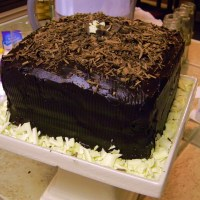 Dark Chocolate Ganache Cake (aka: A Manly Birthday Cake)