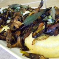 Roasted Mushrooms with Polenta: I could live off this meal forever!