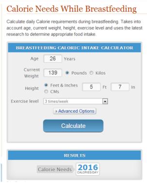 Calorie Needs