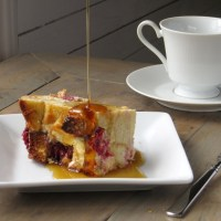 White Chocolate Raspberry Bread Pudding + a Photo Re-Vamp!
