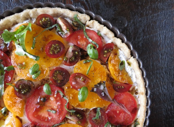 Herbed Goat Cheese & Tomato Tart