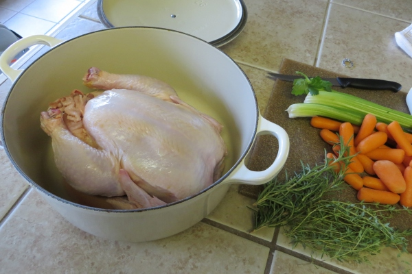 Boiling a Whole Chicken