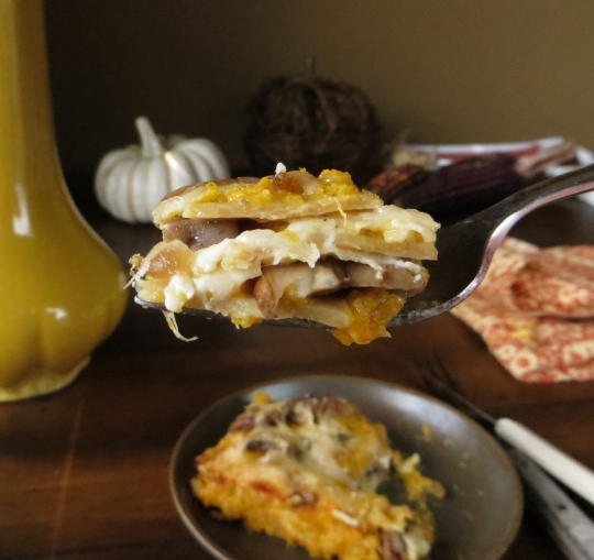 Savory Pumpkin Lasagna > Pretty Hungry/Blog