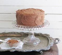 Classic Yellow Cake + Hershey's Chocolate Icing >> Pretty/Hungry Blog
