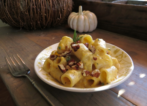 Rigatoni with Cheesy Pumpkin Sauce - Pretty/Hungry Blog