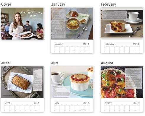 A Pretty/Hungry Year- 2014 Wall Calendar Featuring Recipes & Photos by Carissa Casey: Author of the Pretty/Hungry Blog