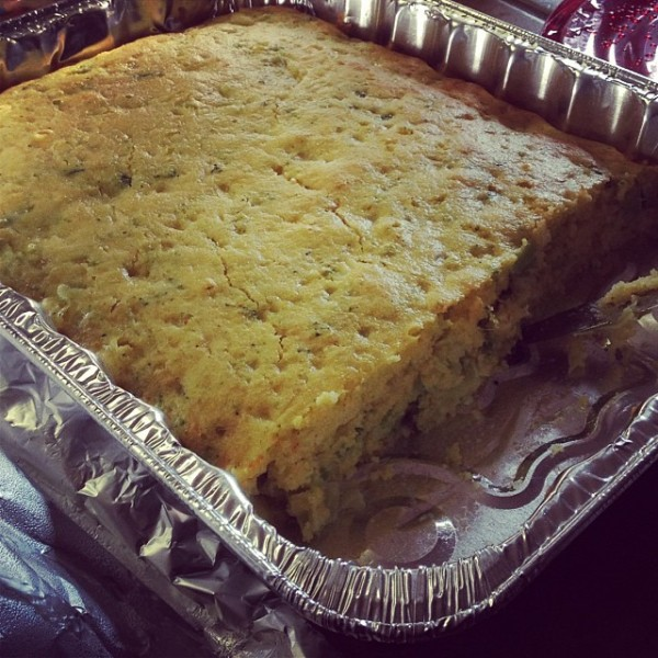 Sherri Garner's Broccoli Cornbread- Featured on the Pretty/Hungry blog  (This stuff is too good for dinner... it should be dessert!)