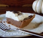 Healthy Chocolate Fudge Pie- 250 Calories per slice and packed with protein!